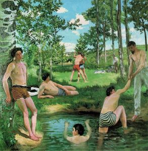 587px-Bazille,_Frédéric_~_Summer_Scene,_1869,_Oil_on_canvas_Fogg_Art_Museum,_Cambridge,_Massachusetts (1)