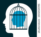 stock-vector-head-in-a-cage-inside-silhouetted-head-showing-a-captive-with-lack-of-freedom-of-speech-mind-160202096
